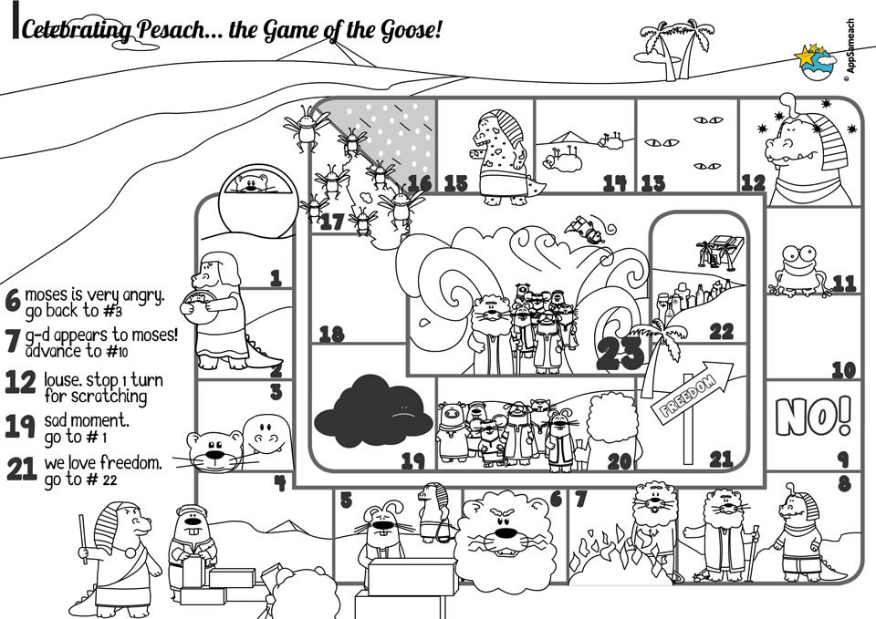 passover board game - jewish traditions for kids | appsameach - Passover Coloring Pages Printable