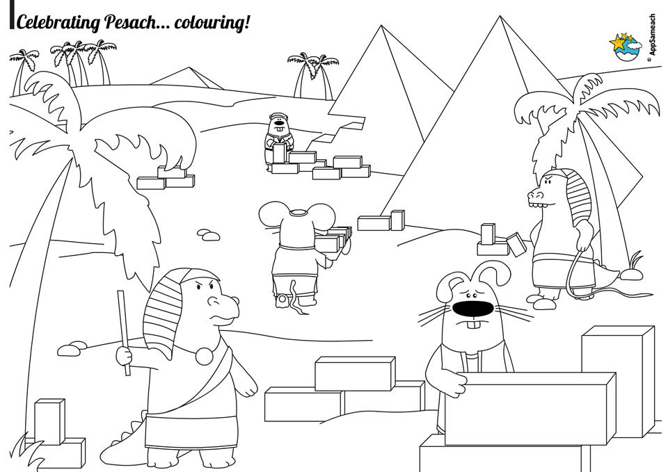 Passover Coloring Pages Jewish Traditions for Kids AppSameach