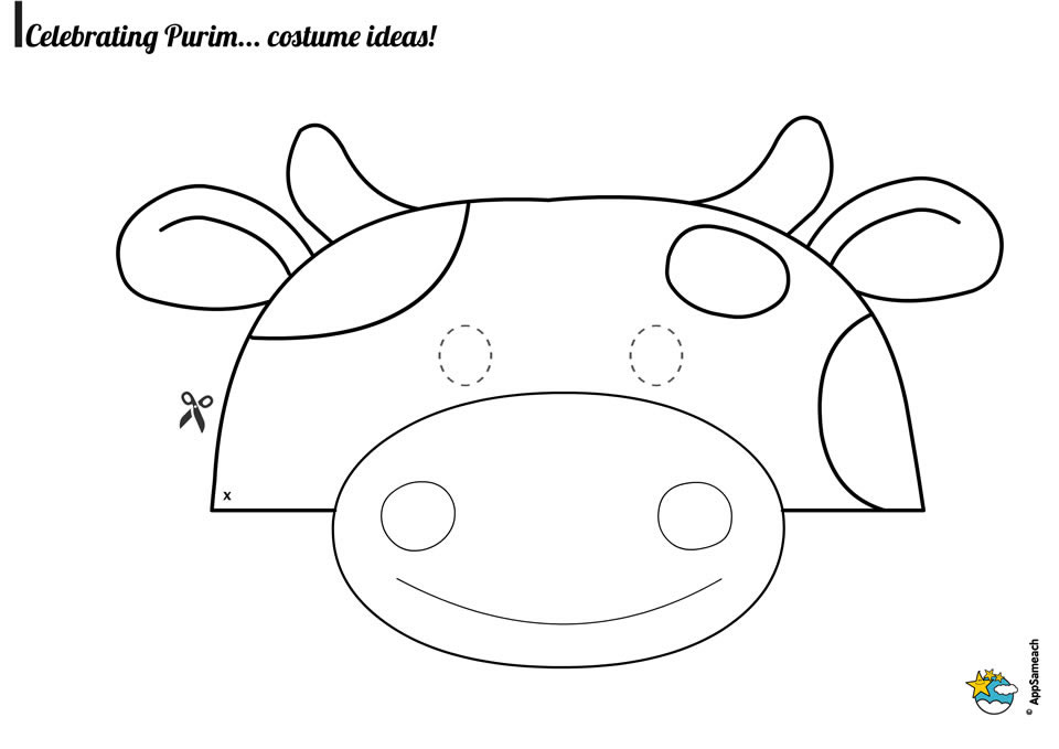 Purim-Mask-Cow-Bw_0070_web