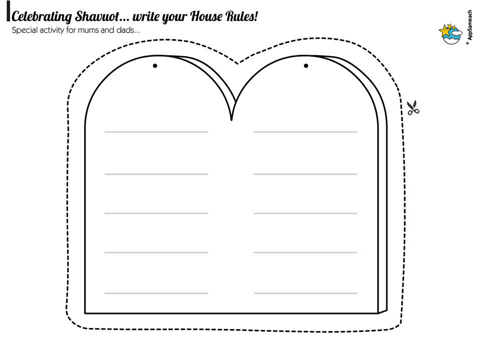 Shavuot Ten Commandments Game
