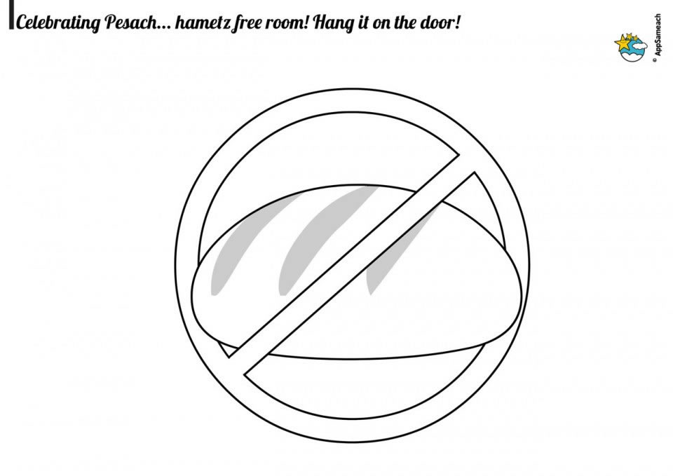 passover coloring page
